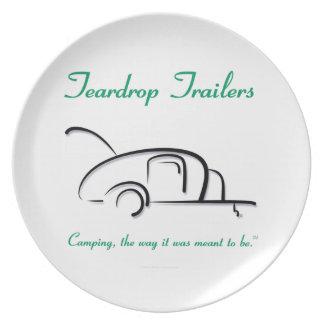 Teardrop Trailers Green Version Party Plate