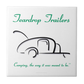 Teardrop Trailers Green Version Small Square Tile