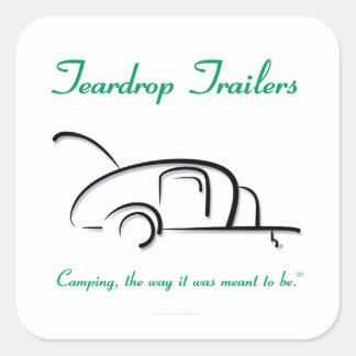 Teardrop Trailers Green Version Square Sticker