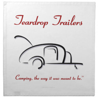 Teardrop Trailers Red Version Cloth Napkin