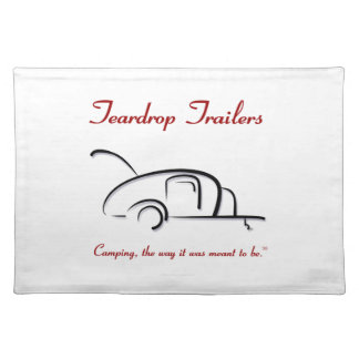 Teardrop Trailers Red Version Place Mats
