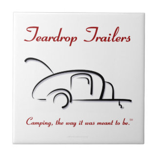 Teardrop Trailers Red Version Small Square Tile
