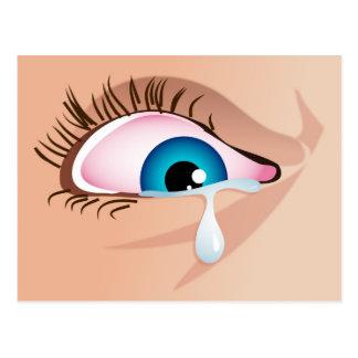 Tearful Eye Postcard