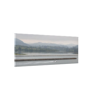 Tearing the water between the mist canvas print