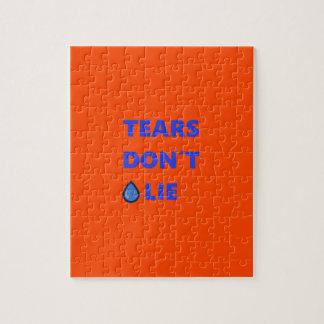 Tears Don't Lie Jigsaw Puzzle