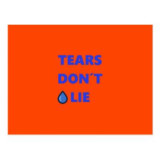 Tears Don't Lie Postcard