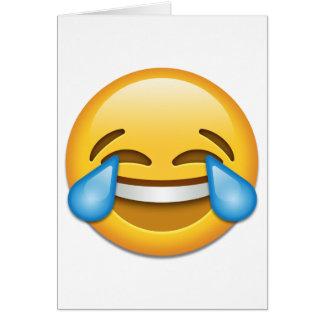 Tears of Joy emoji funny Greeting Card