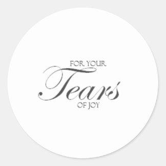 Tears of Joy Round Sticker