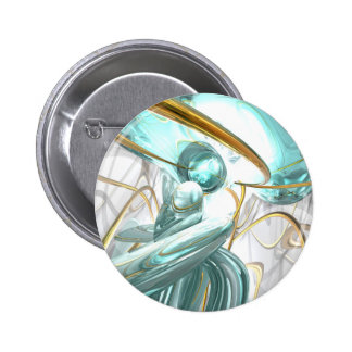 Teary Dreams Abstract Button