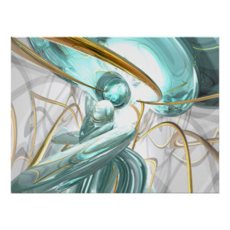 Teary Dreams Abstract Poster