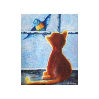 Teasing Bird Canvas Canvas Print
