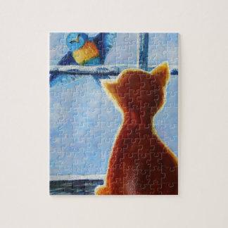 Teasing Bird Jigsaw Puzzle