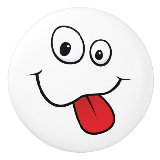 Teasing face door knob - fun design for kids