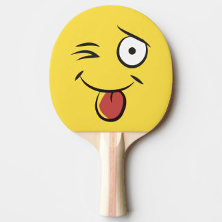 Teasing Face Tongue Out Ping Pong Paddle