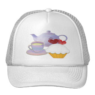 Teatime with Cupcakes heart Cap