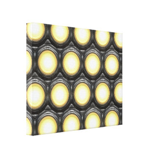 Tec Lights 1 Wrapped Canvas Stretched Canvas Print