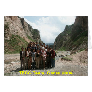 TECC Team, Gansu 2004 Greeting Card