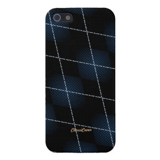 Tech Argyle Black Blue Pattern Savvy Cover For iPhone 5
