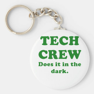 Tech Crew Does it in the Dark Key Ring