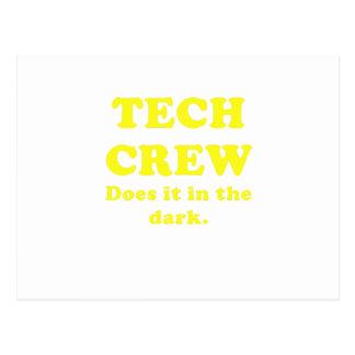 Tech Crew Does it in the Dark Postcard