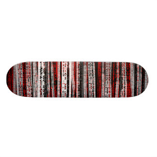 Tech Decay - Black and White on Red Skateboards