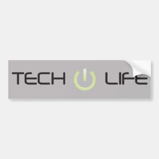 Tech Life (Grey) Car Bumper Sticker