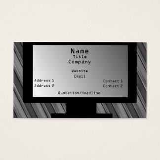 Tech Savvy Business Card, Light Gray