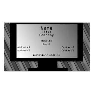 Tech Savvy Business Card, Light Gray Pack Of Standard Business Cards