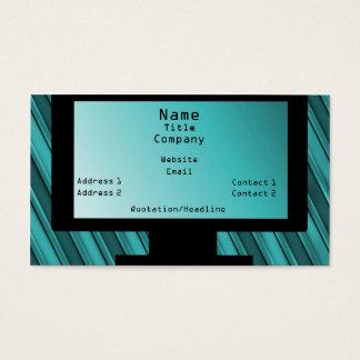 Tech Savvy Business Card, Teal