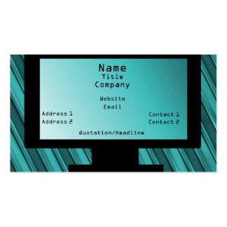 Tech Savvy Business Card, Teal Pack Of Standard Business Cards