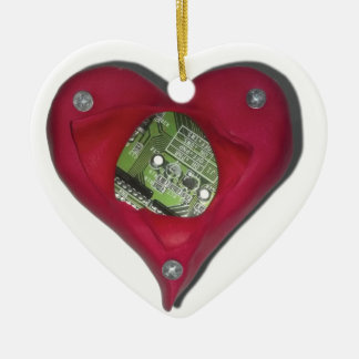 Techie at Heart Ceramic Ornament