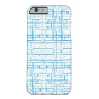 Techie circuit blueprint pattern iPhone 6 case Barely There iPhone 6 Case