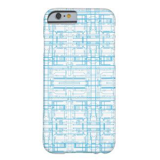 Techie circuit blueprint pattern iPhone 6 case