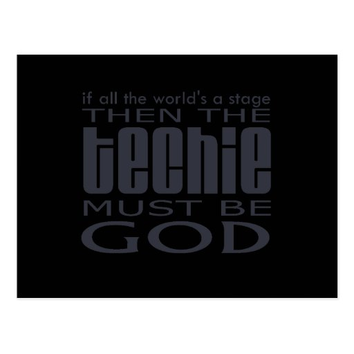Techie God Post Cards