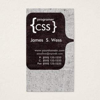 Techie Modern CSS  Computer Software Developer Business Card