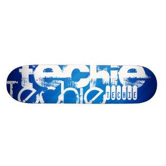 Techie; Royal Blue Stripes 21.6 Cm Old School Skateboard Deck
