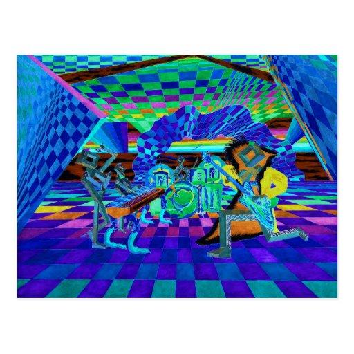 Techies Band Geometrix Series by CricketDiane Postcard