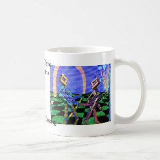 Techies Dancing CricketDiane Geometrix Products Basic White Mug