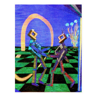 Techies Dancing CricketDiane Geometrix Products Postcard
