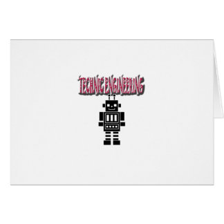Technic Engineering Greeting Card