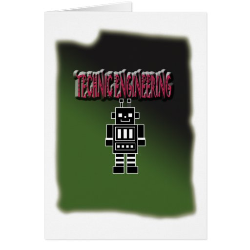 Technic Engineering with Background Greeting Cards