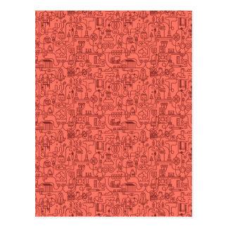 Technic pattern post card