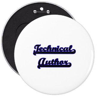 Technical Author Classic Job Design 6 Cm Round Badge