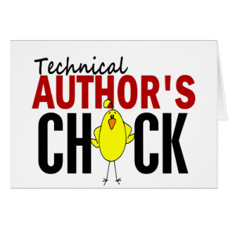 Technical Author's Chick Cards