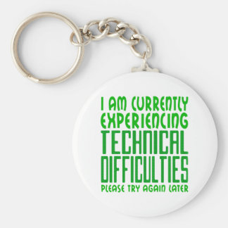 Technical Difficulties Key Ring