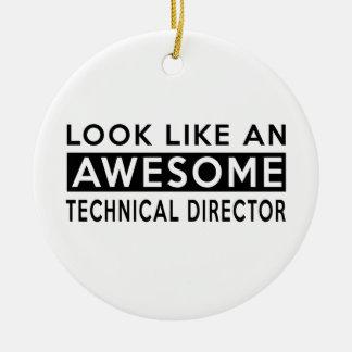 TECHNICAL DIRECTOR DESIGNS CERAMIC ORNAMENT