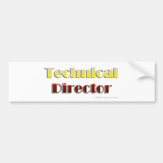 Technical Director (Text Only) Bumper Sticker