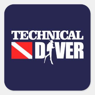 Technical Diver 2 Square Sticker