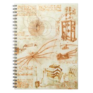 Technical drawing & sketches by Leonardo Da Vinci Notebooks