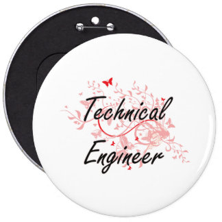 Technical Engineer Artistic Job Design with Butter 6 Cm Round Badge